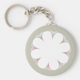 WHITE FLOWER KEYCHAIN TAUPE