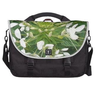 White Flower Computer Bag