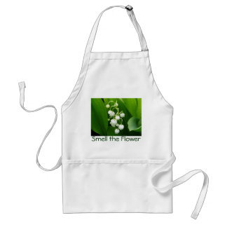 White Flower Lily-of-the-Valley Apron