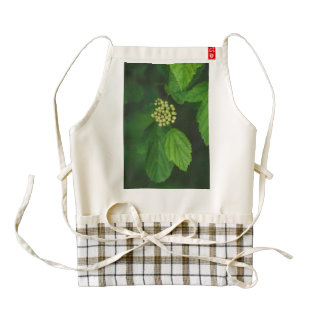 White flower macro zazzle HEART apron