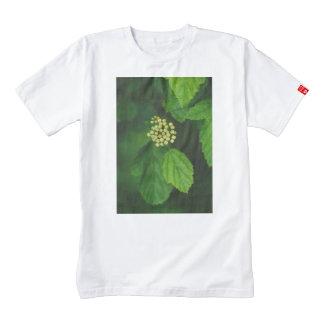 White flower macro zazzle HEART T-Shirt