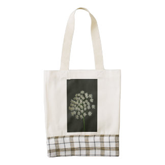 White flower macro zazzle HEART tote bag