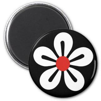 White flower magnet