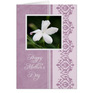 White Flower Mother's Day Card