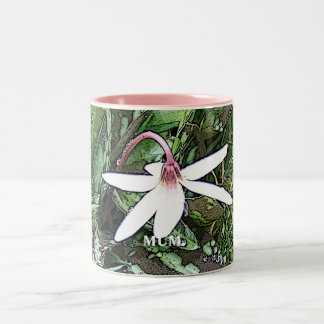 White Flower Mum Mug
