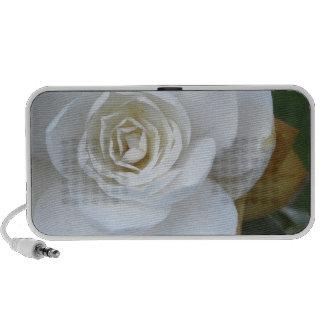 White flower of Camellia in spring Portable Speaker
