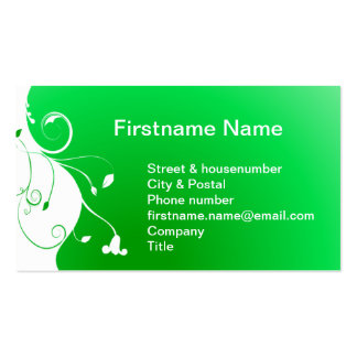 White flower on a green fresh background Double-Sided standard business cards (Pack of 100)