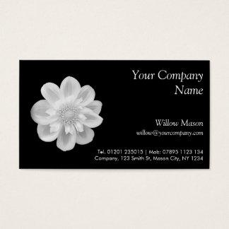 White Flower on Black - Business Card