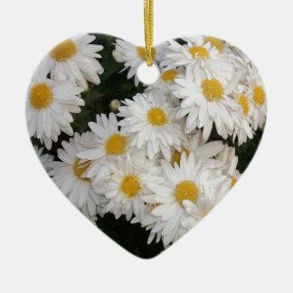 White flower ornaments