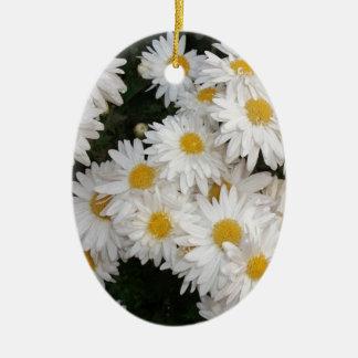 White flower christmas tree ornaments