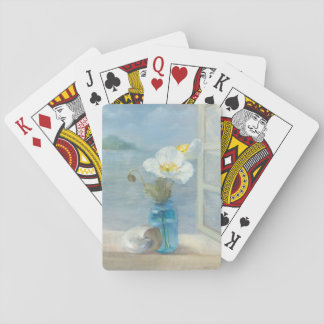 White Flower Overlooking the Sea Playing Cards