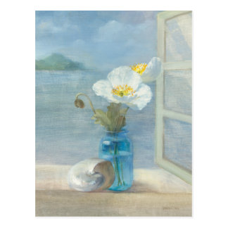 White Flower Overlooking the Sea Postcard