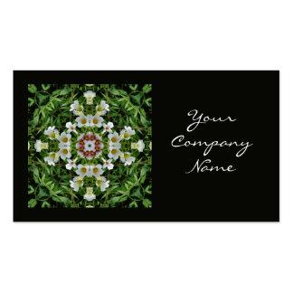White flower pattern business card