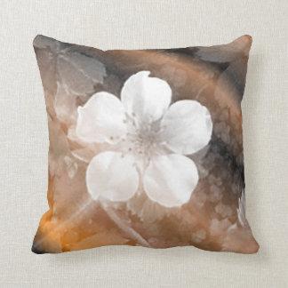 White flower throw pillows