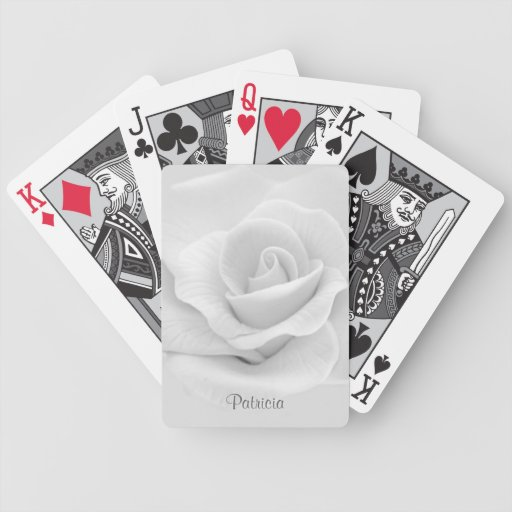 White Flower Playing Cards