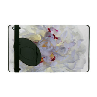 White Flower Powis iCase iPad 2/3/4 Casewith Kicks iPad Folio Case