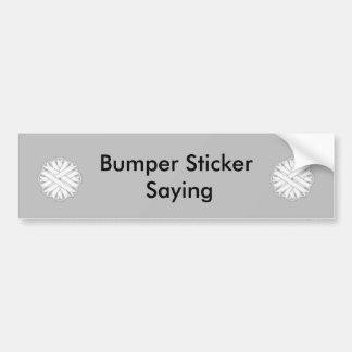 White Flower Ribbon Bumper Sticker