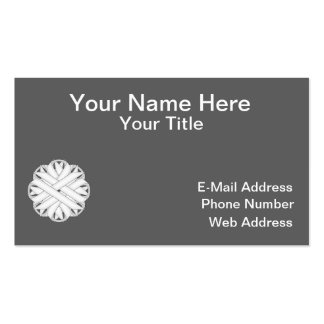 White Flower Ribbon Business Card