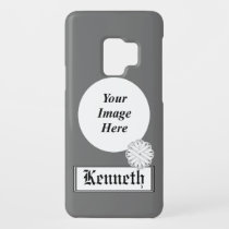 White Flower Ribbon by Kenneth Yoncich Case-Mate Samsung Galaxy S9 Case