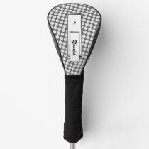 White Flower Ribbon by Kenneth Yoncich Golf Head Cover