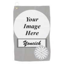 White Flower Ribbon by Kenneth Yoncich Golf Towel