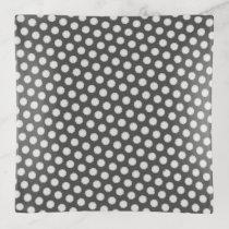 White Flower Ribbon by Kenneth Yoncich Trinket Trays