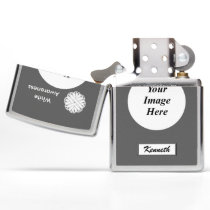 White Flower Ribbon by Kenneth Yoncich Zippo Lighter