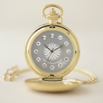 White Flower Ribbon (CHN/JPf) by K Yoncich Pocket Watch