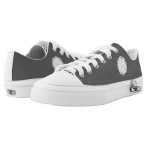 White Flower Ribbon Low-Top Sneakers