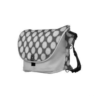 White Flower Ribbon Messenger Bag