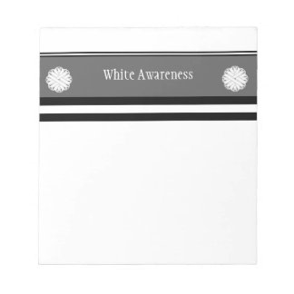 White Flower Ribbon Notepad
