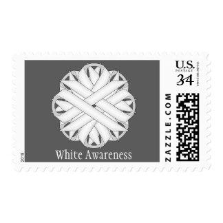 White Flower Ribbon Stamp