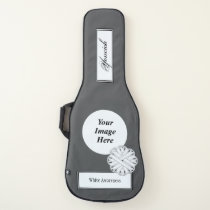 White Flower Ribbon Template by Kenneth Yoncich Guitar Case