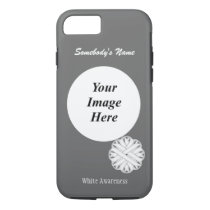 White Flower Ribbon Template by Kenneth Yoncich iPhone 8/7 Case