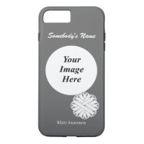 White Flower Ribbon Template by Kenneth Yoncich iPhone 8 Plus/7 Plus Case