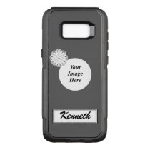 White Flower Ribbon Template by Kenneth Yoncich OtterBox Commuter Samsung Galaxy S8  Case