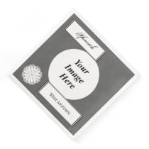 White Flower Ribbon Template by Kenneth Yoncich Paper Dinner Napkin