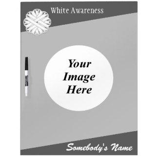 White Flower Ribbon Template Dry-Erase Board