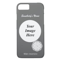 White Flower Ribbon Tmpl by Kenneth Yoncich iPhone 8/7 Case