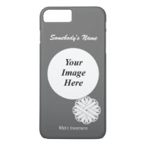 White Flower Ribbon Tmpl by Kenneth Yoncich iPhone 8 Plus/7 Plus Case