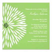 "White Flower Sage Spring  Bridal Shower Invitation 5.25"" Square Invitation Card"