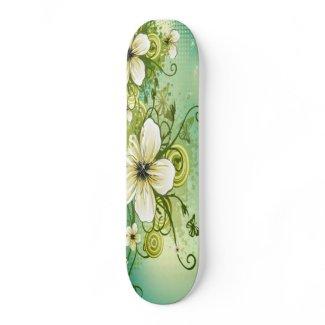 White Flower Sk8Bord skateboard