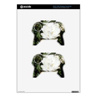 White Flower Xbox 360 Controller Skins