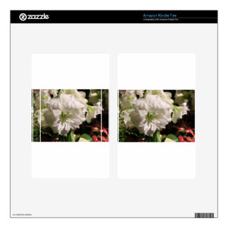 White Flower Skin For Kindle Fire