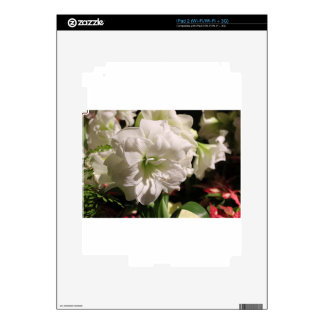 White Flower Skins For The iPad 2