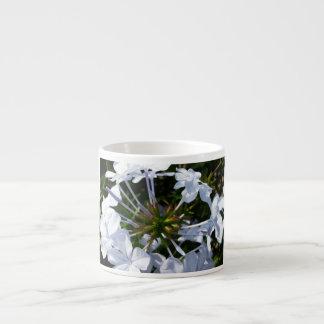 White Flower Espresso Cups