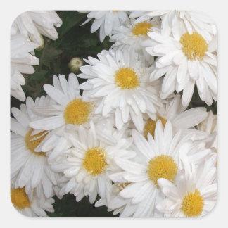 White flower stickers