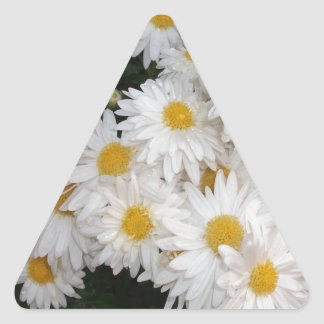 White flower sticker