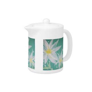 White Flower Teapot
