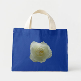 White Flower Tote Bag Red Rose Beach Tote Bags